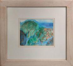 ANN BRUNSKILL (1923-2018) 'Trees, Queensland', watercolour, 14cm x 18cm, signed with monogram,