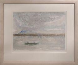 ANN BRUNSKILL 'Cloudy Bay, Tasmania', watercolour, 24cm x 32cm, signed and dated, framed.