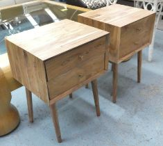 SIDE CHESTS, a pair, 1960's Danish style, of walnut construction, 45cm x 38cm x 63.5cm. (2)