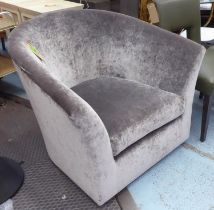 SOFA AND CHAIR COMPANY ARMCHAIR, in shimmering chenille, 94cm x 86cm H.