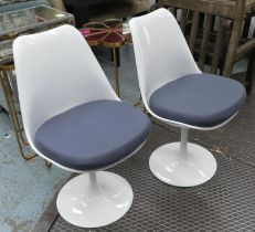 AFTER EERO SAARINEN TULIP STYLE CHAIRS, a set of four, 80cm H.