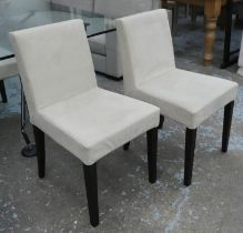 LIGNE ROSET FRENCH LINE DINING CHAIRS, a set of four, by Didier Gomez, 84cm H.