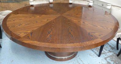 WILLIAM YEOWARD BARRAMUNDI DINING TABLE, 183cm diam x 75cm H. (slight faults)