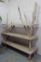 WALTER CASTELLAZZO DRIFTWOOD COLLECTION ETAGERE, made with wood found on Inch Beach, Dingle