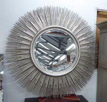EICHHOLTZ SUNBURST MIRROR, silvered with a circular bevelled plate, 146cm x 146cm.