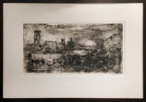 PETER SPENS (born 1961) 'Storm, the City from the Strand', monotype, 29.5cm x 59cm, signed, numbered
