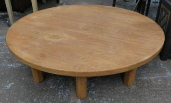 RALPH LAUREN HOME PLATFORM COCKTAIL TABLE, 152cm diam x 39cm.