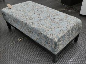 OTTOMAN, contemporary design, leopard print fabric upholstered, 120cm x 60cm x 41cm.