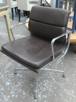 VITRA SOFT PAD DESK CHAIR BY CHARLES AND RAY EAMES, 84cm H.