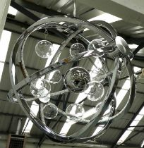 CEILING PENDANT, contemporary atomic style, 42cm Diam approx.