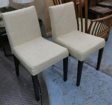 LIGNE ROSET FRENCH LINE DINING CHAIRS, a set of six, by Didier Gomez, 84cm H. (6)