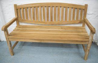 GARDEN BENCH, hardwood, 150cm W.