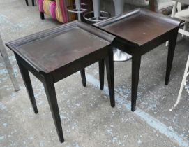 SIDE TABLES, a pair, with drawers, 58cm x 45cm x 65cm. (2) (scratches to tops)