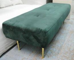 SWOON KOHL BENCH, green velvet, 150cm x 60cm x 50cm approx.