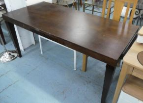 DESK, contemporary design, with brushing slide, 165cm x 75cm x 74cm H. (scratches to top)