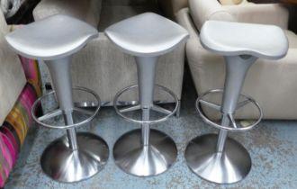 REXITE ZANZIBAR STOOLS, a set of three, by Raul Barbieri, each 38cm W x 79cm H. (3)