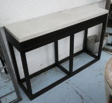 CONSOLE TABLE, contemporary design, stone top, 140cm x 40cm x 91cm.