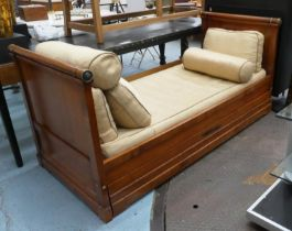 SIMON HORN TRUNDLE BED, empire style, 199cm x 89cm x 90cm. (with faults)