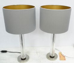 BEST & LLOYD BOSTON TABLE LAMPS, a pair, with shades, 56cm H. (2)