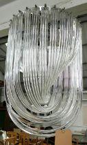CEILING PENDANT LIGHT, Art Deco style, 80cm Drop.