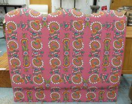 DAVID SEYFRIED HEADBOARD, in an Anna Spiro floral fabric, approx 137cm.