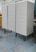 KETTAL FILA OBJECTS FLOOR SHADES, a set of three, by Michel Charlot, each 41cm x 41cm x 135cm. (3)