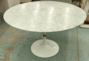 AFTER EERO SAARINEN TULIP STYLE TABLE, marble top, 121.5cm x 72cm H.