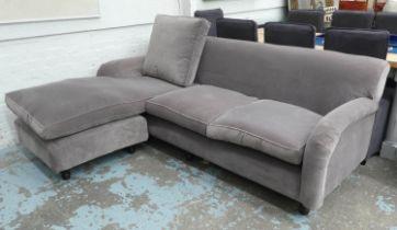 CORNER SOFA, Howard style, purple fabric finish, 225cm W approx.