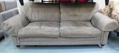 SOFA WORKSHOP SOFA, brown fabric finish, 218cm.
