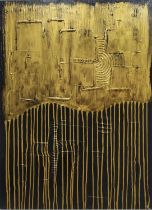 PIERO MONTANELLI 'Abstract', oil on canvas, 90cm x 65cm, monogrammed and dated verso.