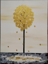 PIERO MONTANELLI 'Tree', oil on canvas, 90cm x 65cm, monogrammed and dated verso.
