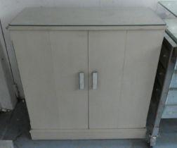 MEDIA CABINET, 107cm x 46cm x 110cm, contemporary grey painted.