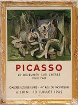 PABLO PICASSO 'Le Dejeuner sur l'Herbe', 1962, rare lithographic poster, galerie Louise Leiris, 70cm