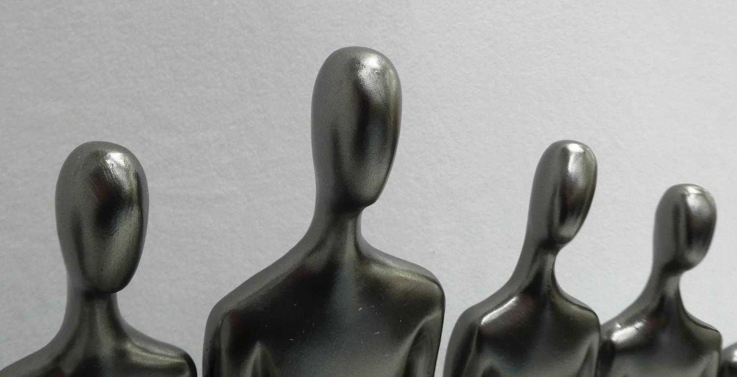 CONTEMPORARY SCHOOL, The Family, sculptural study, 34cm at tallest. - Image 3 of 4