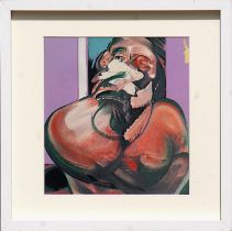 FRANCIS BACON, lithograph, printed by Maeght, 30cm x 30cm, framed and glazed.
