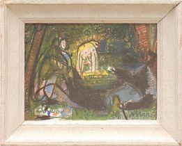 PABLO PICASSO 'Les Dejeuners', off set lithograph, 17cm x 23cm.