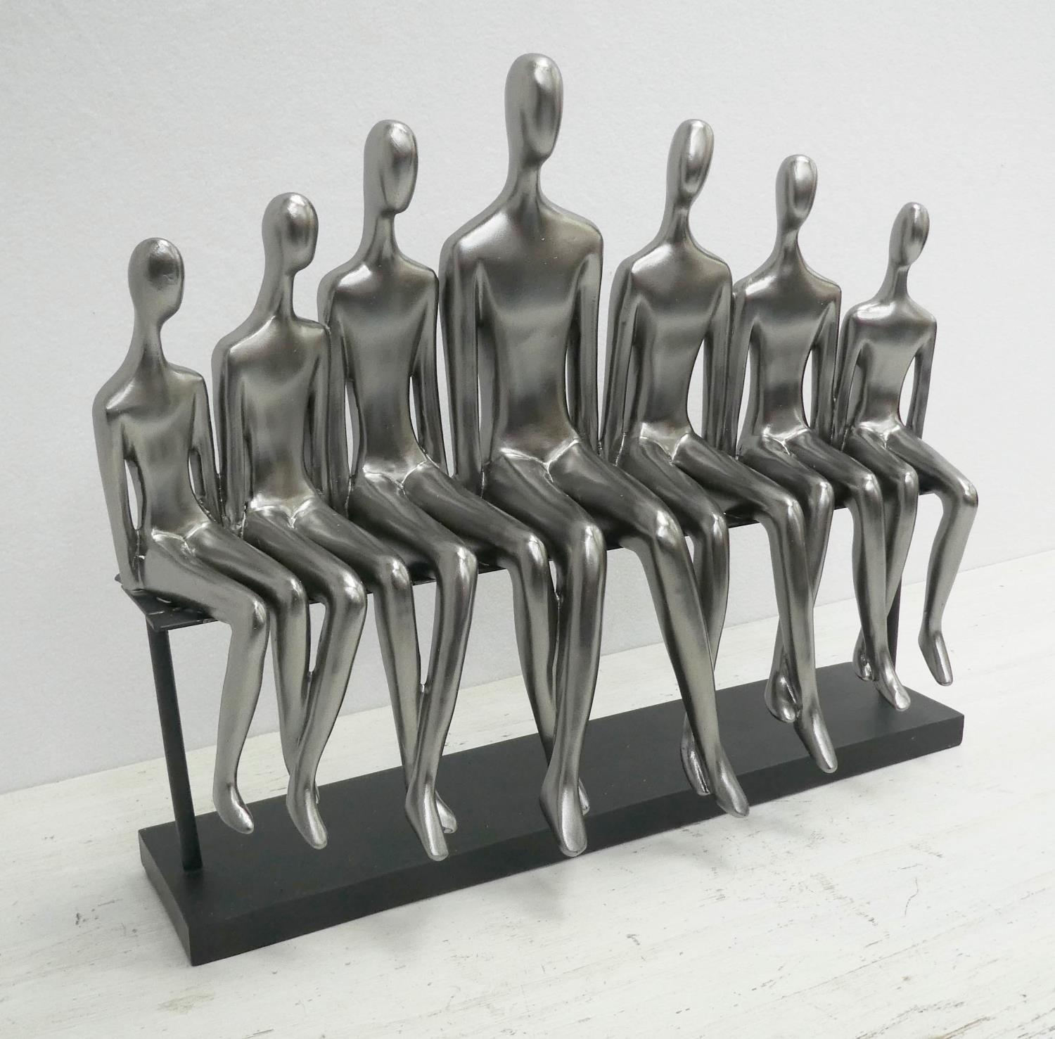 CONTEMPORARY SCHOOL, The Family, sculptural study, 34cm at tallest. - Image 2 of 4