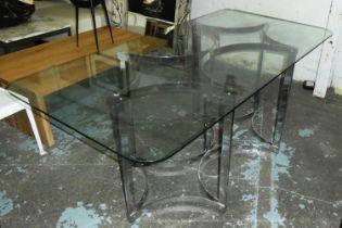ATTRIBUTED TO MERROW ASSOCIATES DINING TABLE, 167cm x 81cm x 72cm, vintage 1970's.