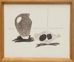 PABLO PICASSO 'Jug with Still Life', 1959, lithograph, Cincinnati Suite, printed by Young & Klein,