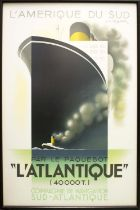 FRENCH TRAVEL POSTERS, 98cm H x 63cm W and 97cm H x 61cm W, reproduction Art Deco, both published in
