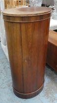 BARREL CABINET, 42cm x 60cm x 130cm, vintage, mid 20th century.