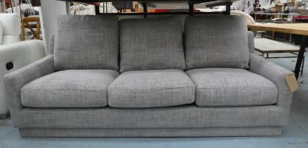 SOFA, 196cm x 92cm x 70cm, contemporary design, in J Brown fabric upholstery.