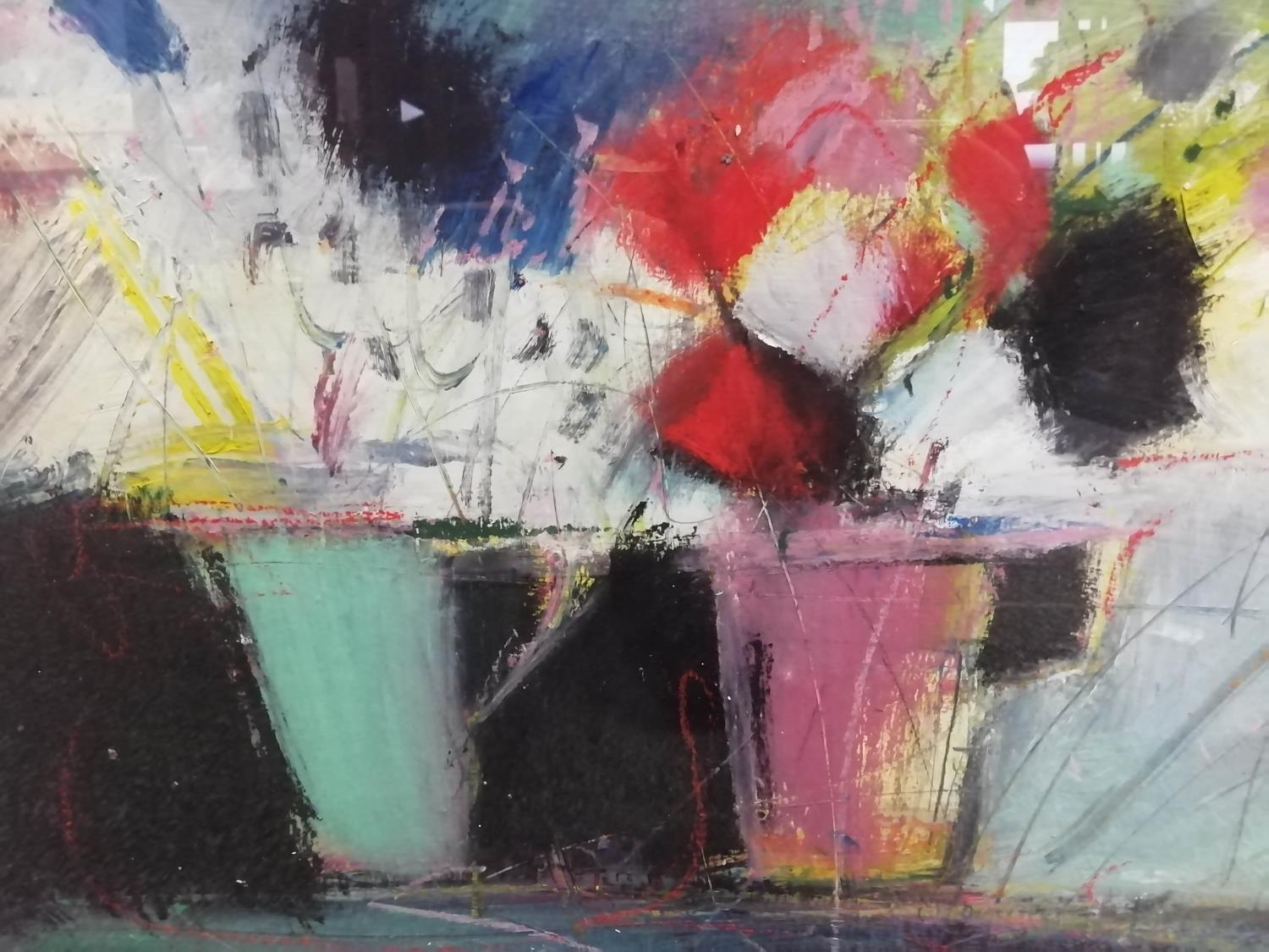 JUSTINE LOIS THORPE (Contemporary British) 'Still Life with Cups of Flowers', 2014, pastel, - Image 8 of 8
