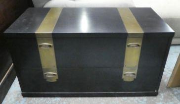 LOW TABLE, 96.5cm x 45.5cm x 51.5cm, contemporary design with two drawers.