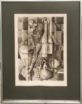 ROBERT CLISSON 'Cubist Still Life', monotype, 38cm x 26cm, signed in pencil, framed.
