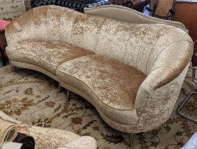 SOFA, 290cm Italian style crushed velvet.