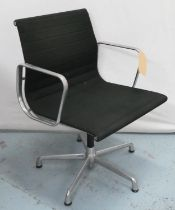 AFTER CHARLES AND RAY EAMES ALUMINIUM GROUP STYLE CHAIR BY ICF, 84cm H.