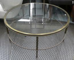 MAISON JANSEN STYLE LOW TABLE, 93cm Diam x 42cm H.