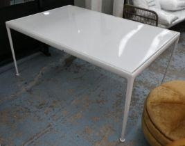 AFTER RICHARD SCHULTZ 1966 STYLE DINING TABLE, 152cm x 96cm x 67cm.