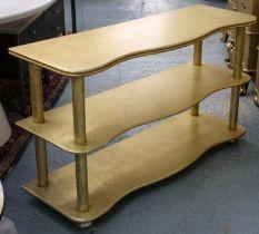 ETAGERE, 120cm x 40cm x 70cm, gilt wood.